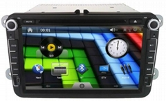 car multimedia system for VW PoLo with bluetooth kit canbus gps navgation