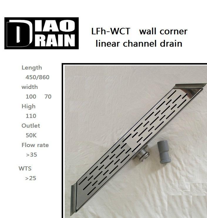 corner wall linear floor drain 1