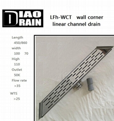 corner wall linear floor drain