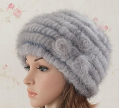 Fashion natural mink fur hat