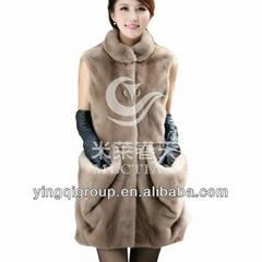 fashion mink fur vest