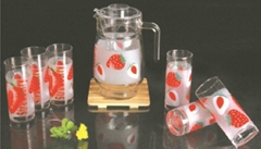 7PCS Drinking Set with Decal &Lid