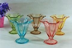 6PCS Ice Cream Bowl Set with Spray Color