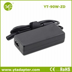 90W univerersal laptop and notebook charger power supply voltage