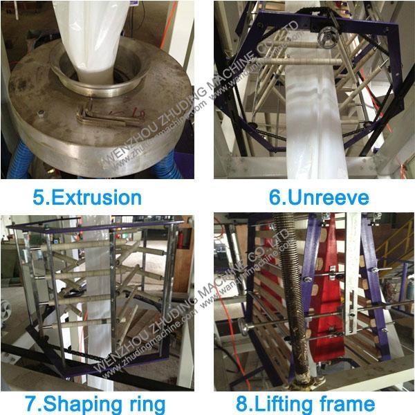 H-LDPE film blowing machine 3