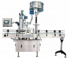 Full auto dish wash screw clip cap single head capping machine