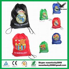 Nylon foldable drawstring bag