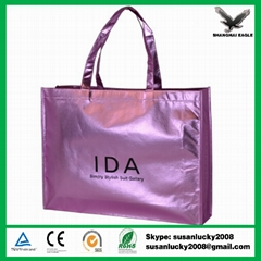 Non woven Metallic lamination shopping bag