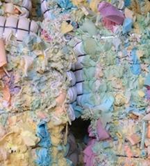 Dry and clean pu foam scrap without skin