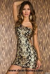 Plus Size One-shoulder Mini Club Wear / Party Dress