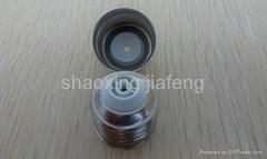 Lampholder E27 Aluminum nickel plate solder-free