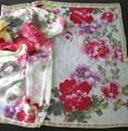Custom digital print silk fabric