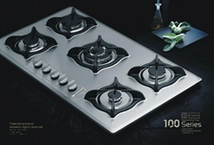 5 burners stainless steel  gas stove