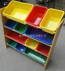 多种颜色儿童玩具架