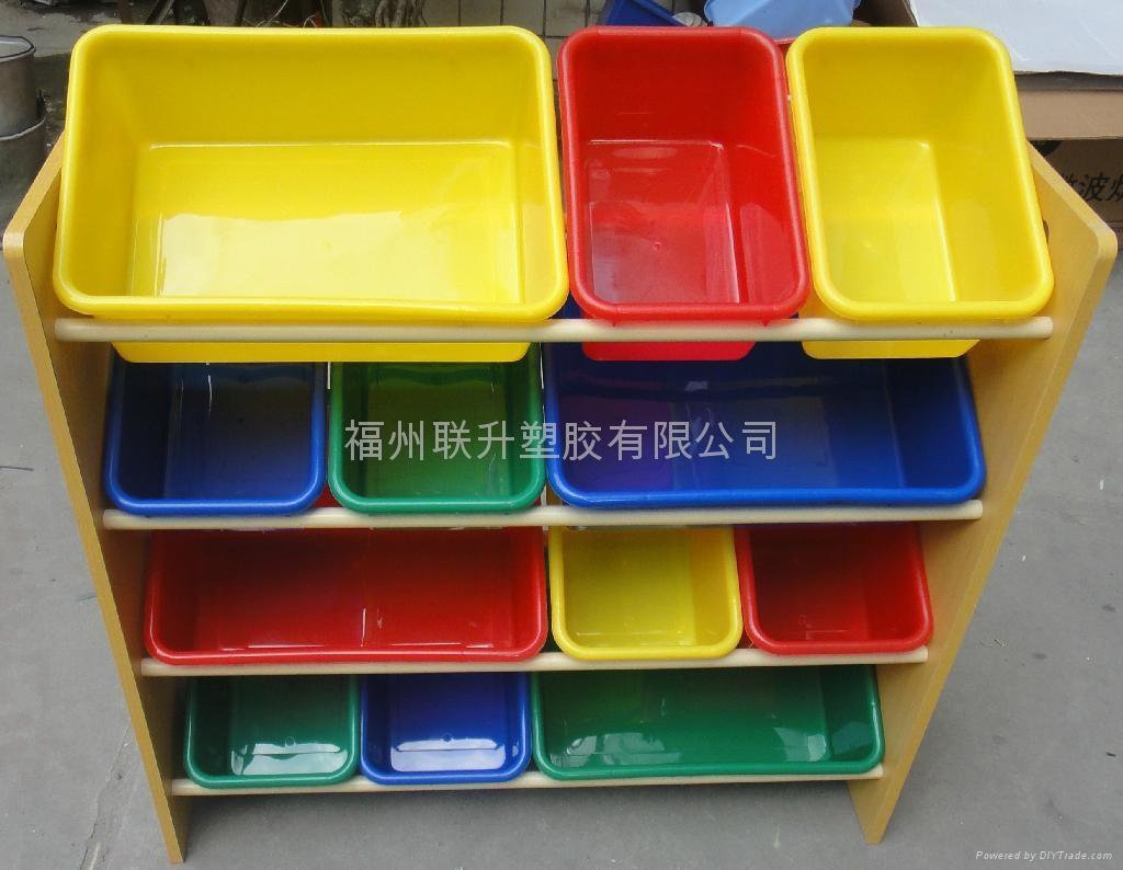 多种颜色儿童玩具架 2