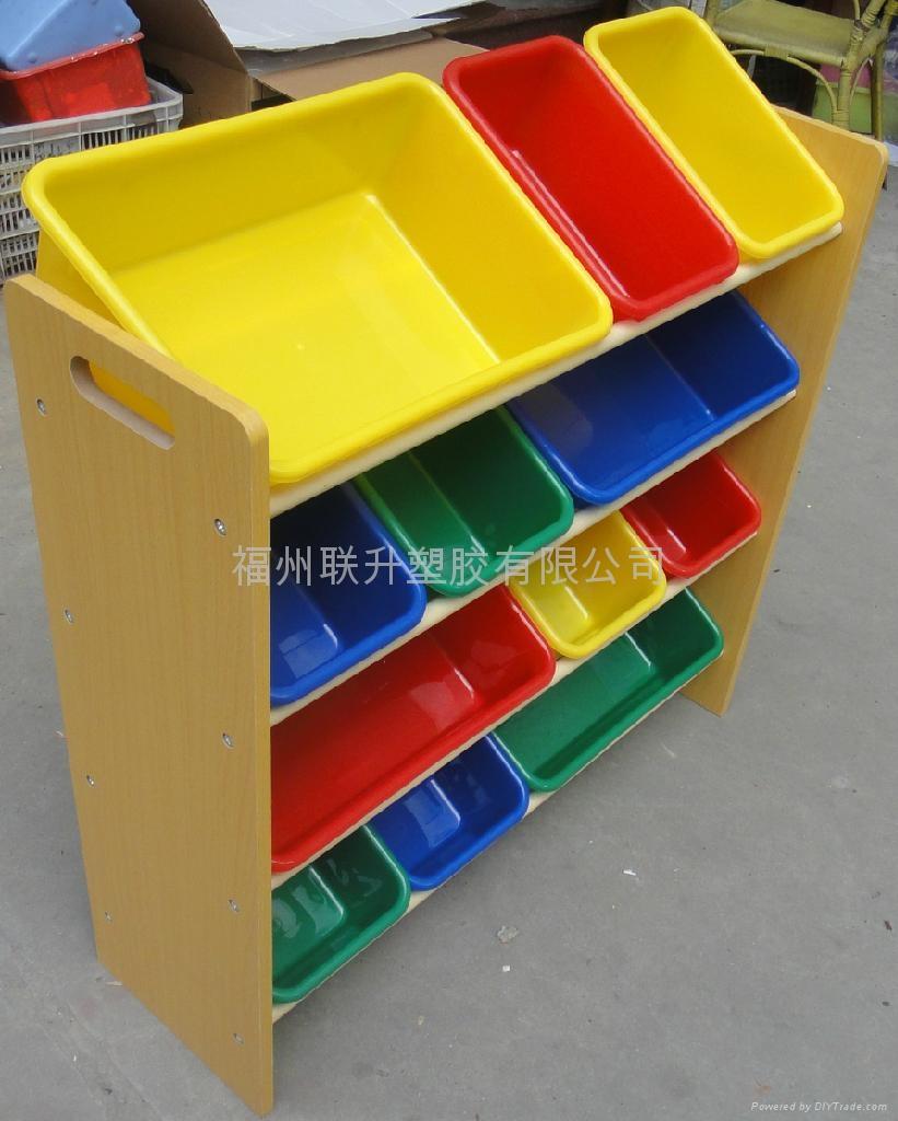 多种颜色儿童玩具架 3