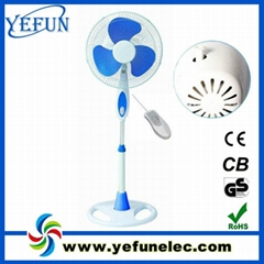 """ABS material 16"""" remote control stand fan"""