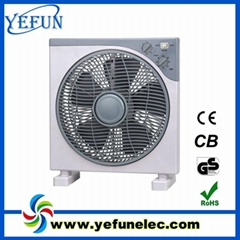 "12"" electric box fan with 2 hours timer"