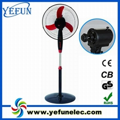 """100% cooper wire 16"""" electric stand fan with light"""