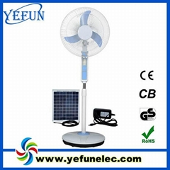 16inch rechargeable solar fans with LED lights