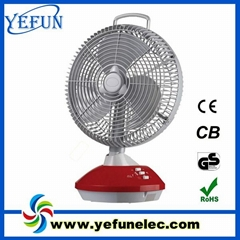 12inch rechargeable table fan