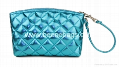 Fashion design satin different color cosmetic bag for women