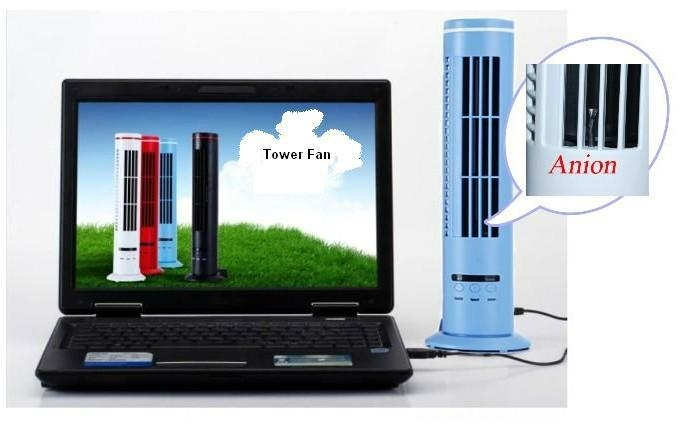 14'' Anion USB Mini Tower Fan 2