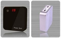 Dual USB Power bank 7800mah with digital screen show remaining power