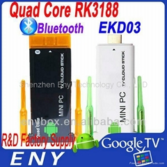 Quad core Tv stick EKD03 Dual wifi antenna strong wifi bluetooth Tv stick