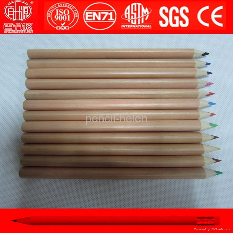 premium quality natural wood big color pencil 2