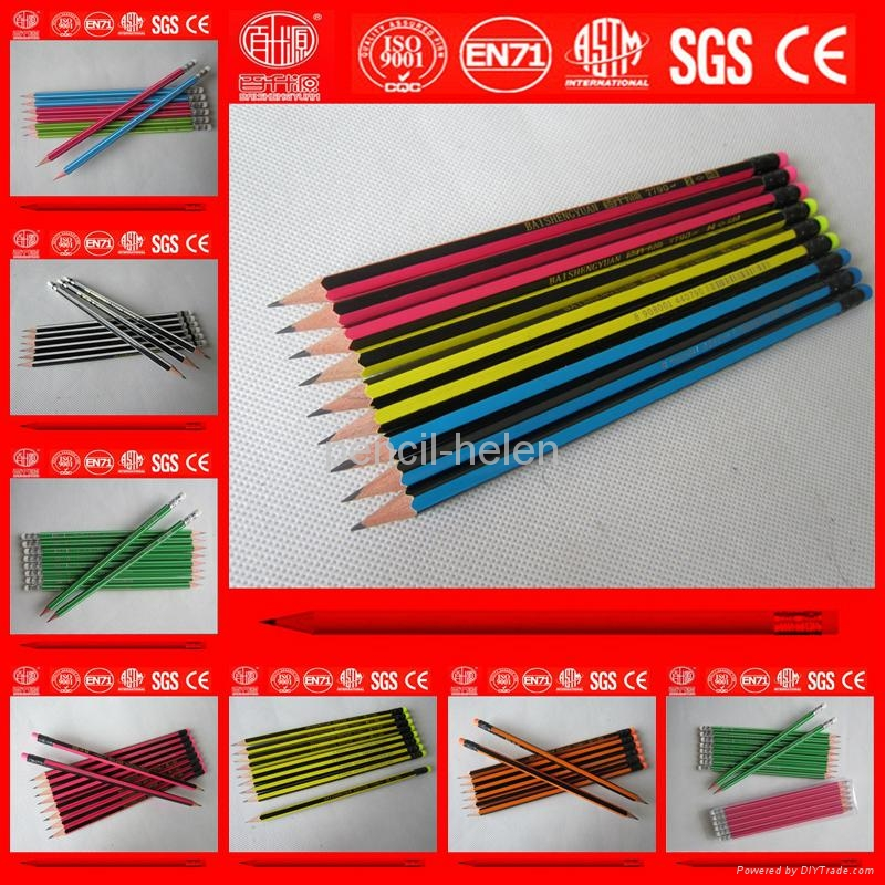 striped wooden pencil 1