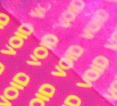 temper evident label materials