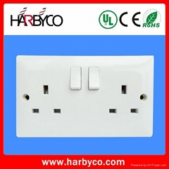 13 amp 2 gang wall socket
