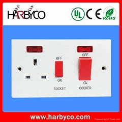 industrial plugs and sockets manufacturer BS switch socket