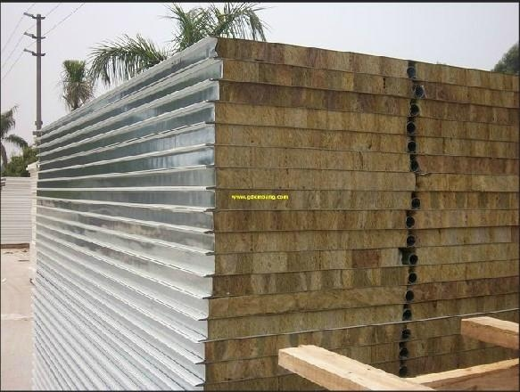 Rock wool roof sandwich panel 5