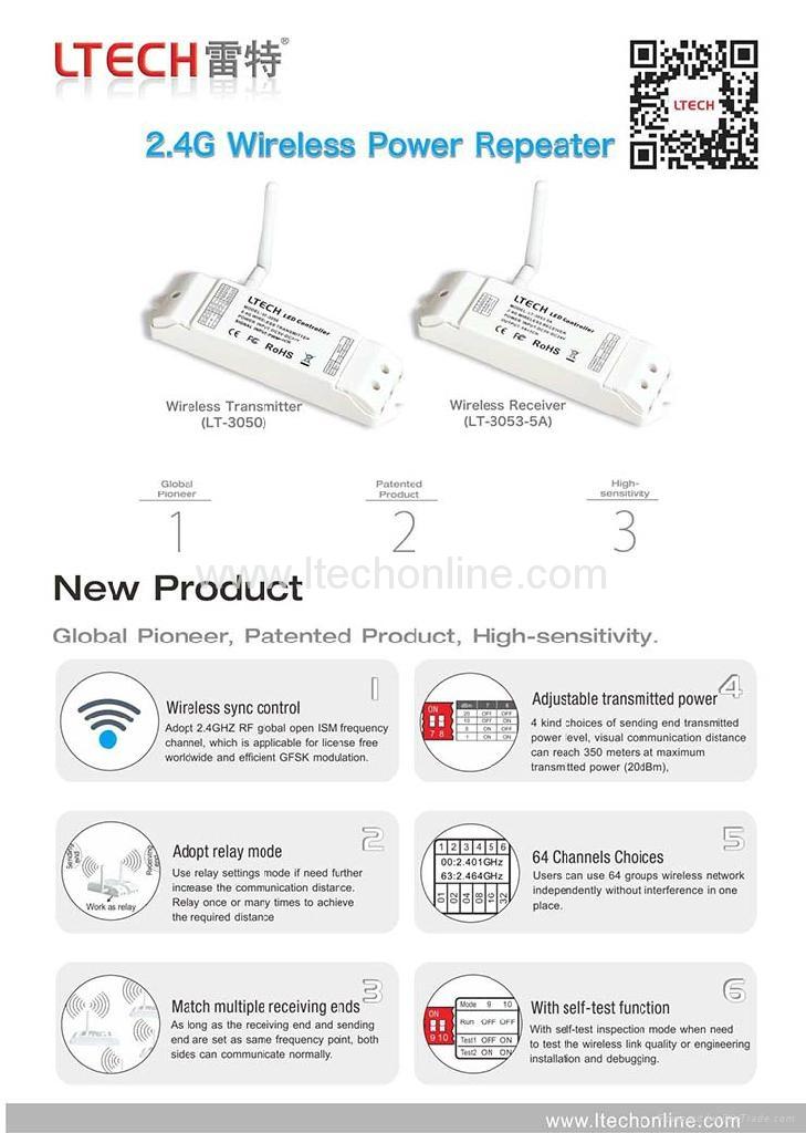 2.4G Wireless power repeater (Global Pioneer) 2