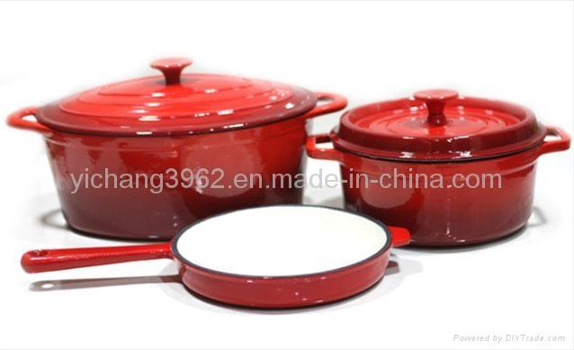 enamel cast iron cooking pot porcelain coated cast iron cookware china manufacturer boiler. Black Bedroom Furniture Sets. Home Design Ideas