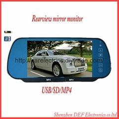 插卡后视镜 带电视功能 接收模拟线号