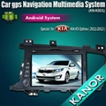 """8"""" android car dvd radio player gps navigation bluetooth system for K2 rio K5 4"""