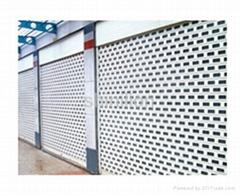 Commercial roller shutter door