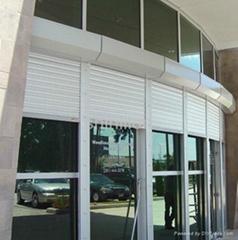 Roller shutter exterior window