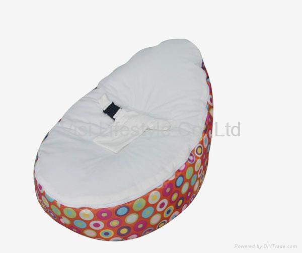 Hot Sale Velvet Top Baby Bean Bag Chair 1