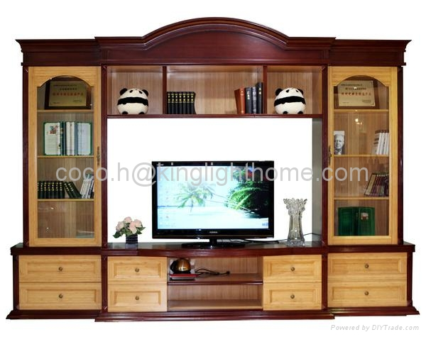 100% Solid Bamboo TV Stand Cabinet With Drawer 1 ...