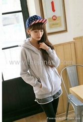 lovely bear loose student cardigan hoodie