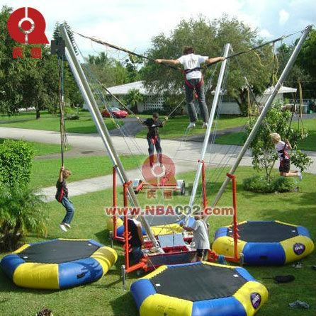 4 in 1 Kids / Adult Bungee Jumping Trampoline 1
