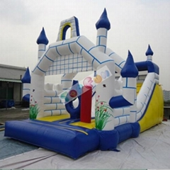 amusement inflatable castle with slide for kids