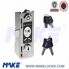 stainless steel coin operated lock