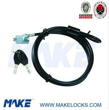 high security 1.8m cable laptop lock 1