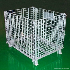 stackability and folding wire mesh cage
