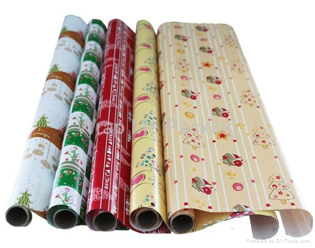 Christmas printing gift wrapping paper roll 1